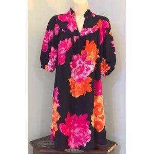 BANANA REPUBLIC Black Floral Bouquet Dress
